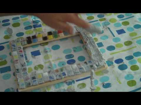 kreativ basteln zum kindergeburtstag mit mosaik bastelsets fotorahmen youtube. Black Bedroom Furniture Sets. Home Design Ideas