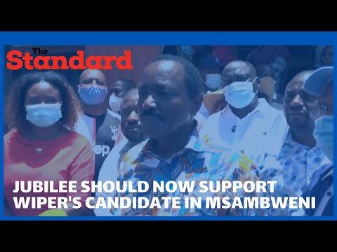 NASA Rivalry: Kalonzo Musyoka vows to wrestle it out with ODM party in Msabweni by-election