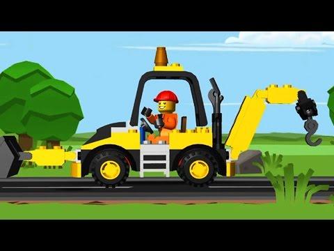 เกมส์ ขับรถแมคโครตักดิน LEGO แม็คโครทุบทำลาย | วีดีโอสำหรับเด็ก | LEGO TOY