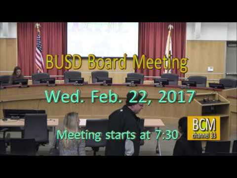 Feb 22 2017 Berkeley School Board Meeting