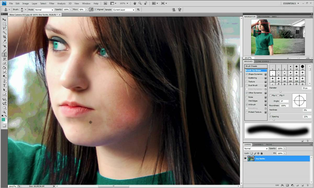 Photoshopping An Ugly Girl To A Pretty Girl - Youtube-4952