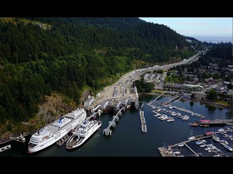 Horseshoe Bay West Vancouver Canada BC Ferries Terminal 4K