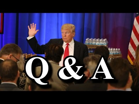 Audience Crowd Ask Donald Trump Questions At Rally in Cincinnati Ohio Q&A ✔