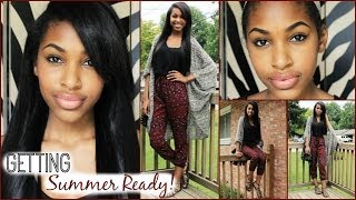 Getting Summer Ready! Hair, Makeup, & Outfit Thumbnail