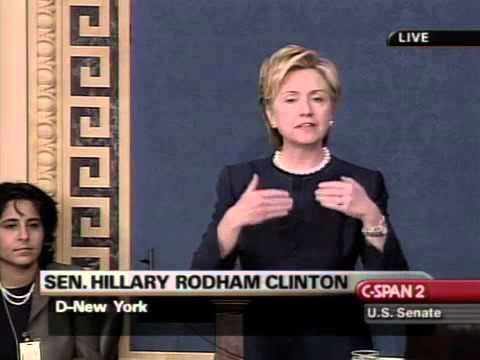 Hillary Clinton Speaking Against Gay Marriage Constitutional Amendment