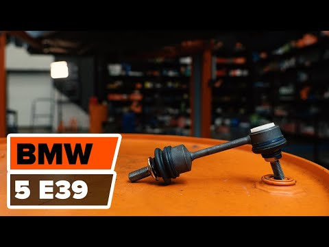 How to replace the rear Anti Roll Bar Link on BMW 5 E39 TUTORIAL | AUTODOC
