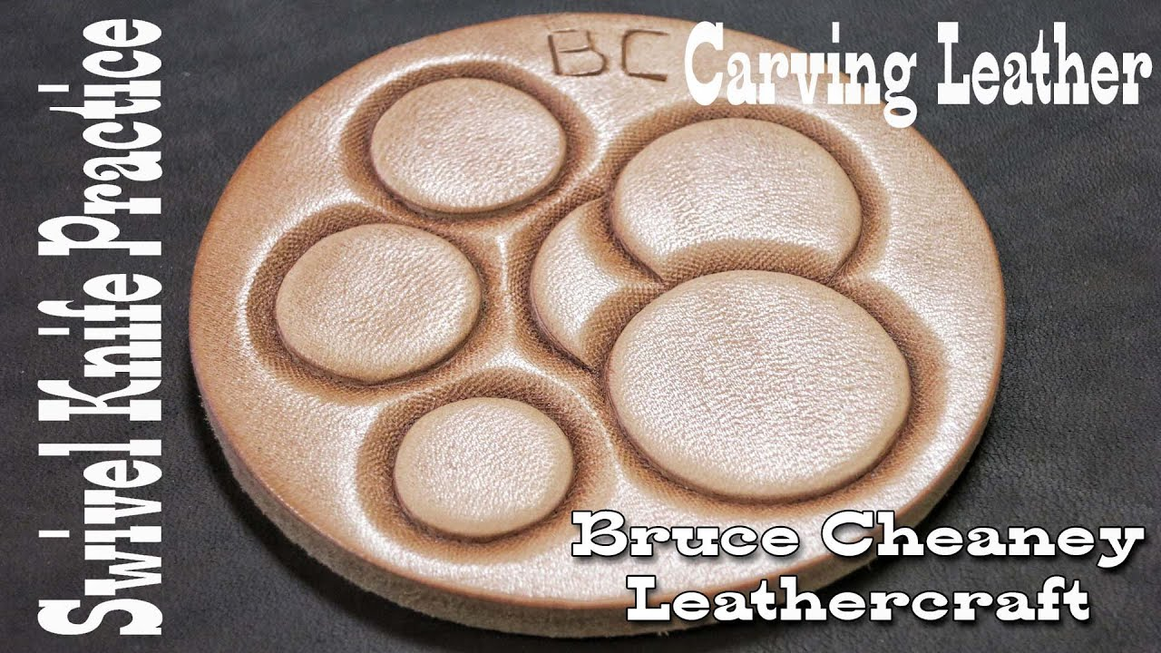 The leathercraft swivel knife practice for beginners