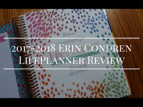 2017-2018 Erin Condren LifePlanner & Accessories Review, with a Pen Test!