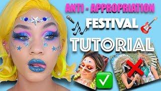ANTI APPROPRIATION MUSIC FESTIVAL MAKEUP TUTORIAL | BHCOSMETICS - SUVA BEAUTY - GOGETGLITTER - ABH
