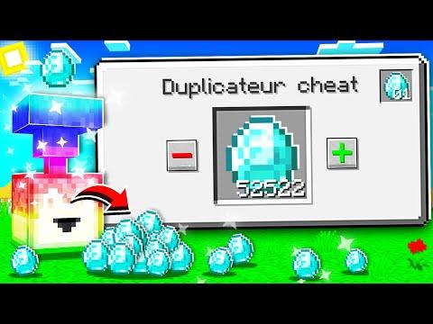 Minecraft MAIS j'ai une machine à DUPLICATION ! (trop cheat !)