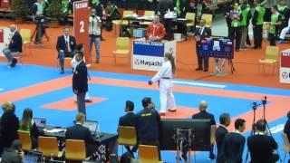 World Championships 2016, kumite female  55Kg, Banaszyk POL vs Tosun TUR