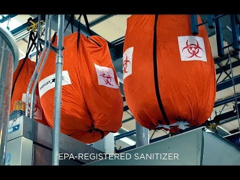 Aramark's Sanitizing Wash Process For Healthcare Clients