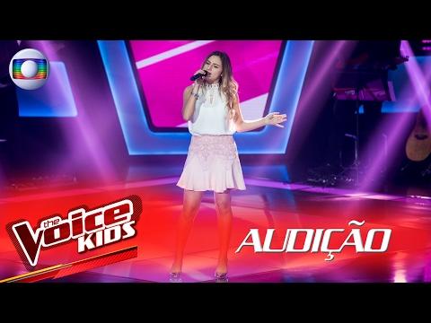 Luiza Savattone canta 'Almost is Never Enough' na Audição –  The Voice Kids Brasil | 2ª Temporada