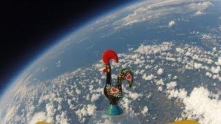 """Galo de Barcelos foi ao Espaço (""""Rooster of Barcelos"""" in Space)"""