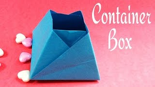 Origami Paper Pyramid Box / Container !!