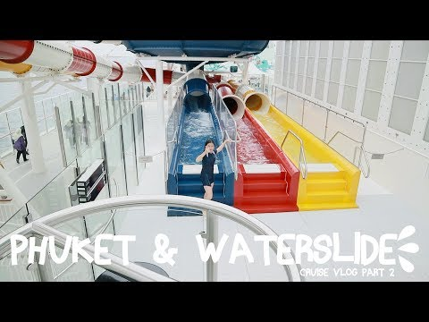 ADELVLOG #15 CRUISE VLOG Part.2 : Phuket & Waterslide | Adel Ivanka