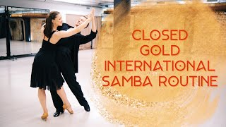 Closed Gold International Samba Routine