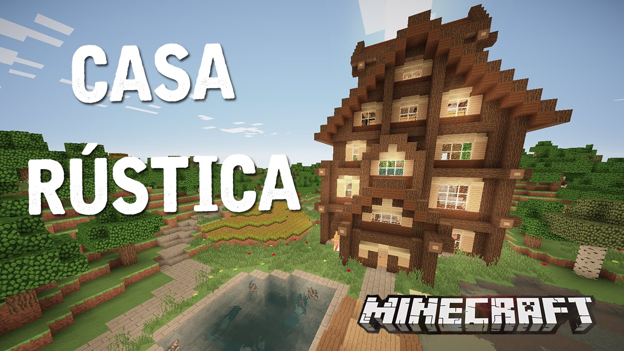 HERMOSA CASA RSTICA EN MINECRAFT  CASAS DE SUBS  YouTube