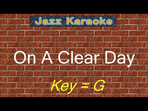 "JazzKara  ""On A Clear Day"" (Key=G)"