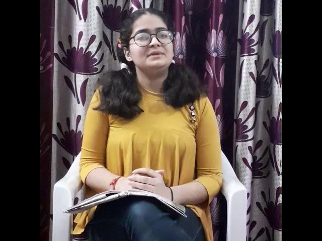 Poetry Entry | Mehak Dhar 2 | Jammu, India