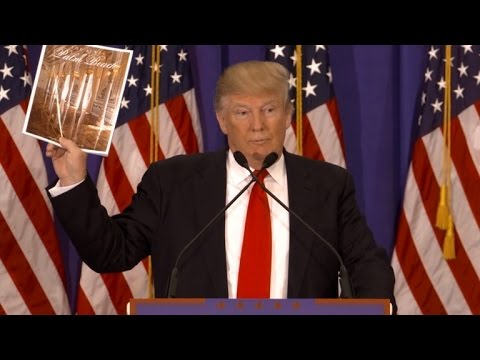 Donald Trump Shows Off His Products After Being Attacked By Mitt Romney