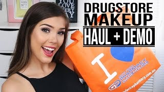DRUGSTORE MAKEUP HAUL + DEMO | What's new at Good Price Pharmacy Warehouse!