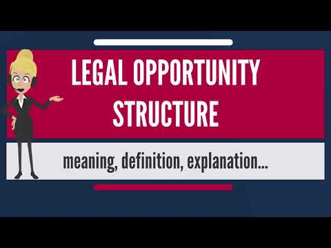 What is LEGAL OPPORTUNITY STRUCTURE? What does LEGAL OPPORTUNITY STRUCTURE mean?