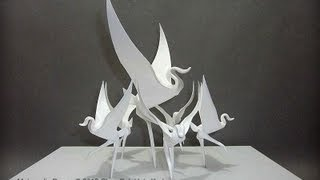 Origami Immortal Crane Instruction 摺紙萬壽仙鶴教學 ( Kade Chan )