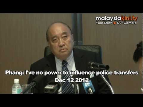 Phang: I've no power to influence police transfers