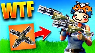 WTF THE DOUBLE MINIGUN IT'S A LOT TROP FORT ON FORTNITE BATTLE ROYALE !!! (ULTRA CHEATEd mdr)