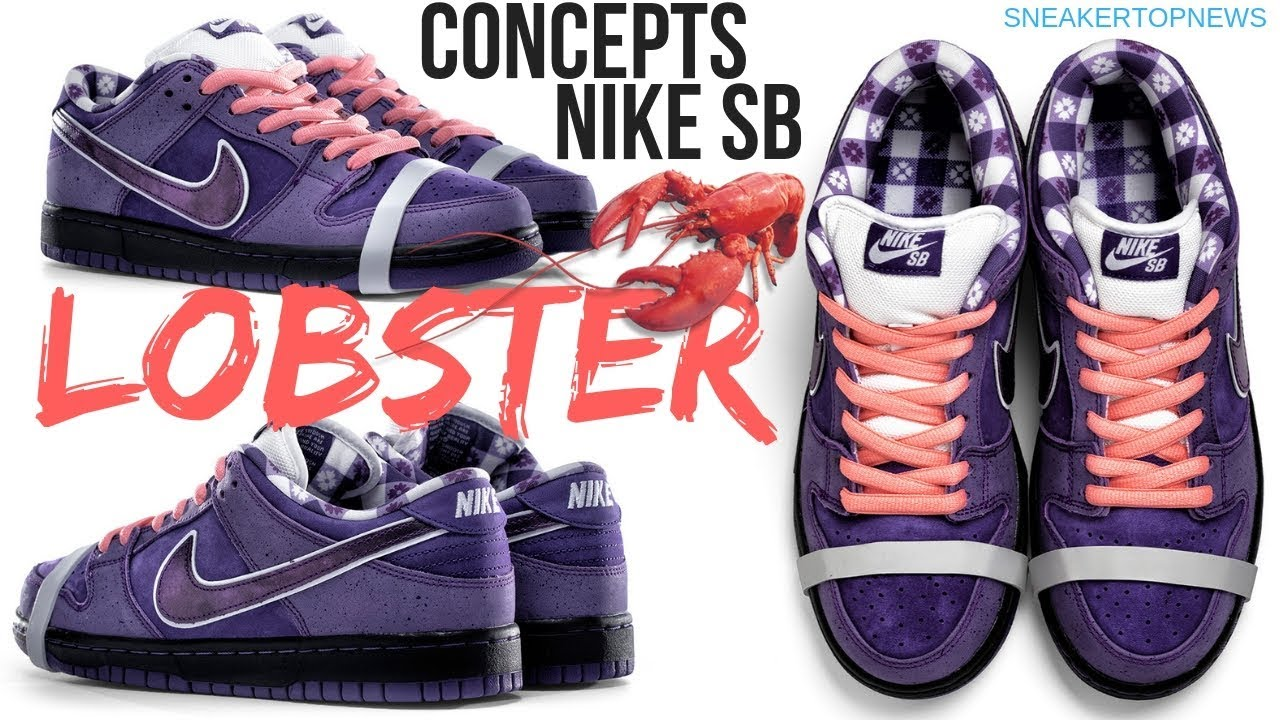 "Concepts And Nike SB Celebrate 10th Anniversary Of The ""Lobster"" Dunk With  New Purple Colorway 2e1632f95"