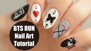 bts run nail art tutorial