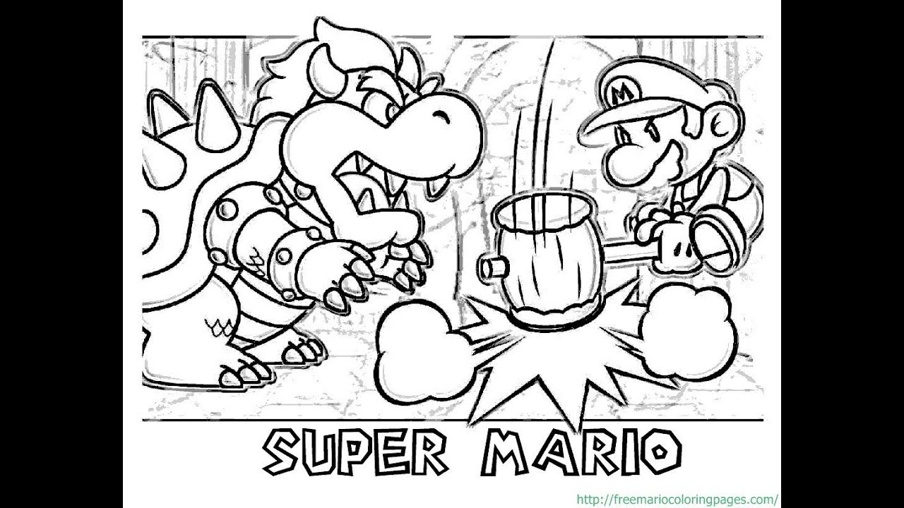 Paper Mario Supper Colouring Pages Great Collection Of Coloring For The Fans Youtube