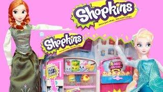 Frozen Shopkins Season 2 So Cool Fridge Disney Elsa Anna Shopkin Collection Video Exclusive Kid Toys
