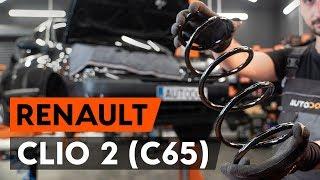 Hoe een spiraalveer vooraan vervangen op een RENAULT CLIO 2 (C65) [AUTODOC-TUTORIAL]