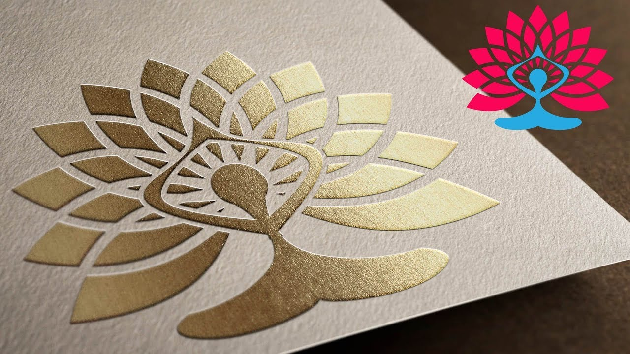 Yoga Symbol With Lotus Flower Tutorial In Illustrator Step By Step Youtube