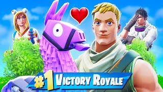 When a NOOB finds a LLAMA in Fortnite Battle Royale!