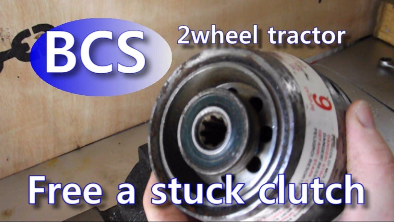 Free a stuck clutch BCS walk behind tractor (no special tool