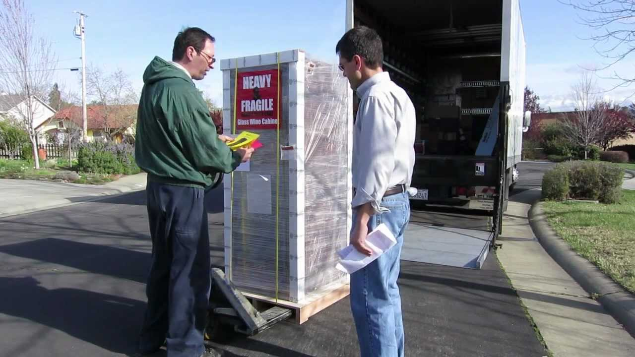 Vinotheque Wine Cabinet Delivery Process - YouTube