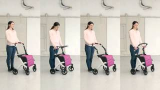 Rollz Flex: a design rollator with a large bag