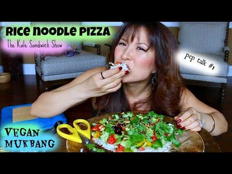 RICE NOODLE PIZZA • Mukbang & Recipe