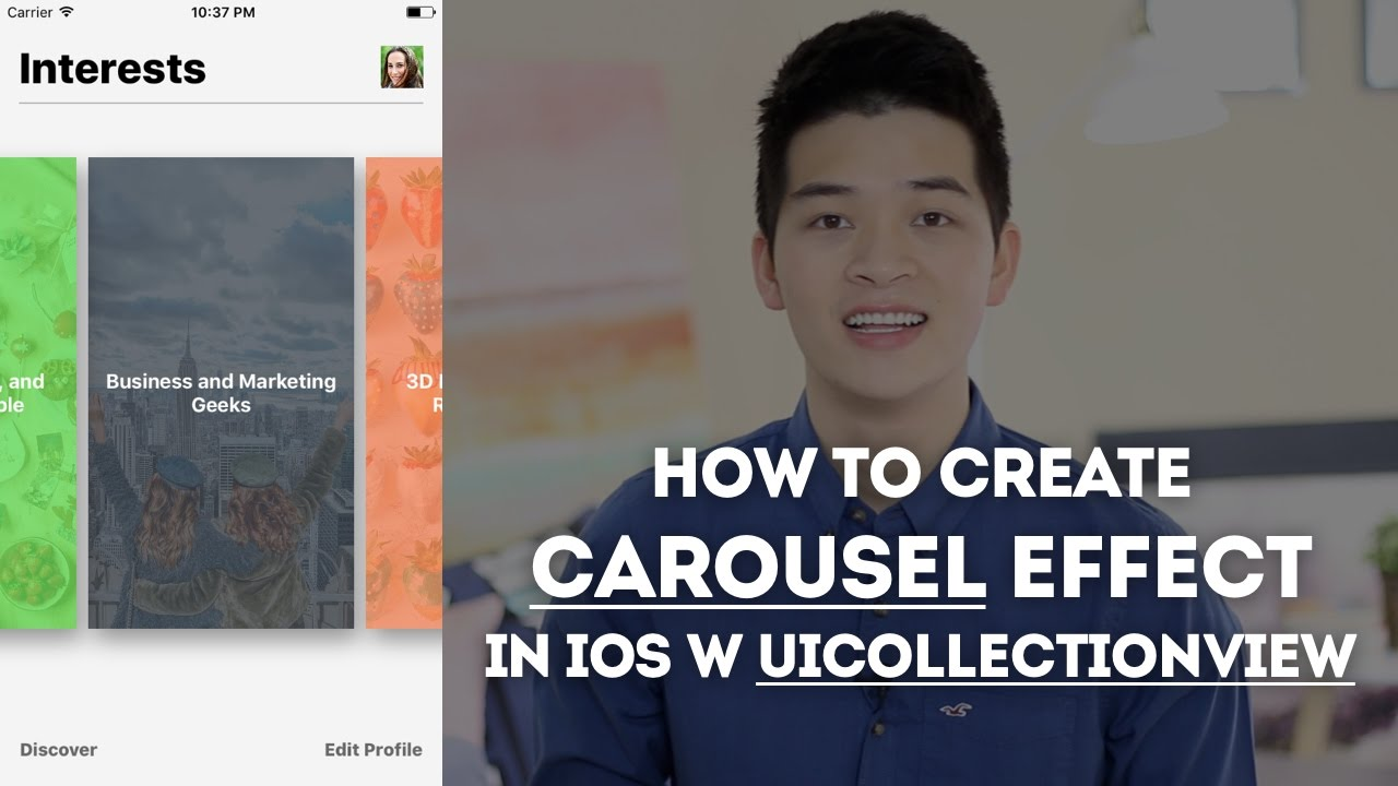 UICollectionView with Swift: Build Carousel Like Home Screen - iOS  Development Tutorial Pt 1