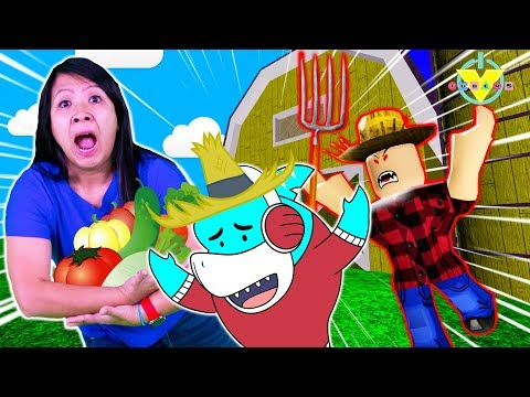 RYAN'S MOMMY ESCAPES THE FARM OBBY IN ROBLOX WITH BIG GIL! Let's Play Roblox Farm Obby