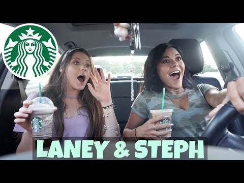 Drive with us to Starbucks | Steph and Laney