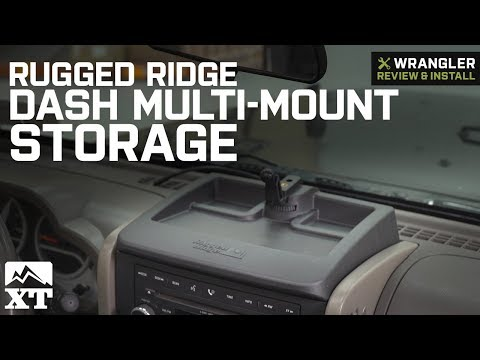 Jeep Wrangler Rugged Ridge Dash Multi-Mount Storage System (2007-2010 JK) Review & Install