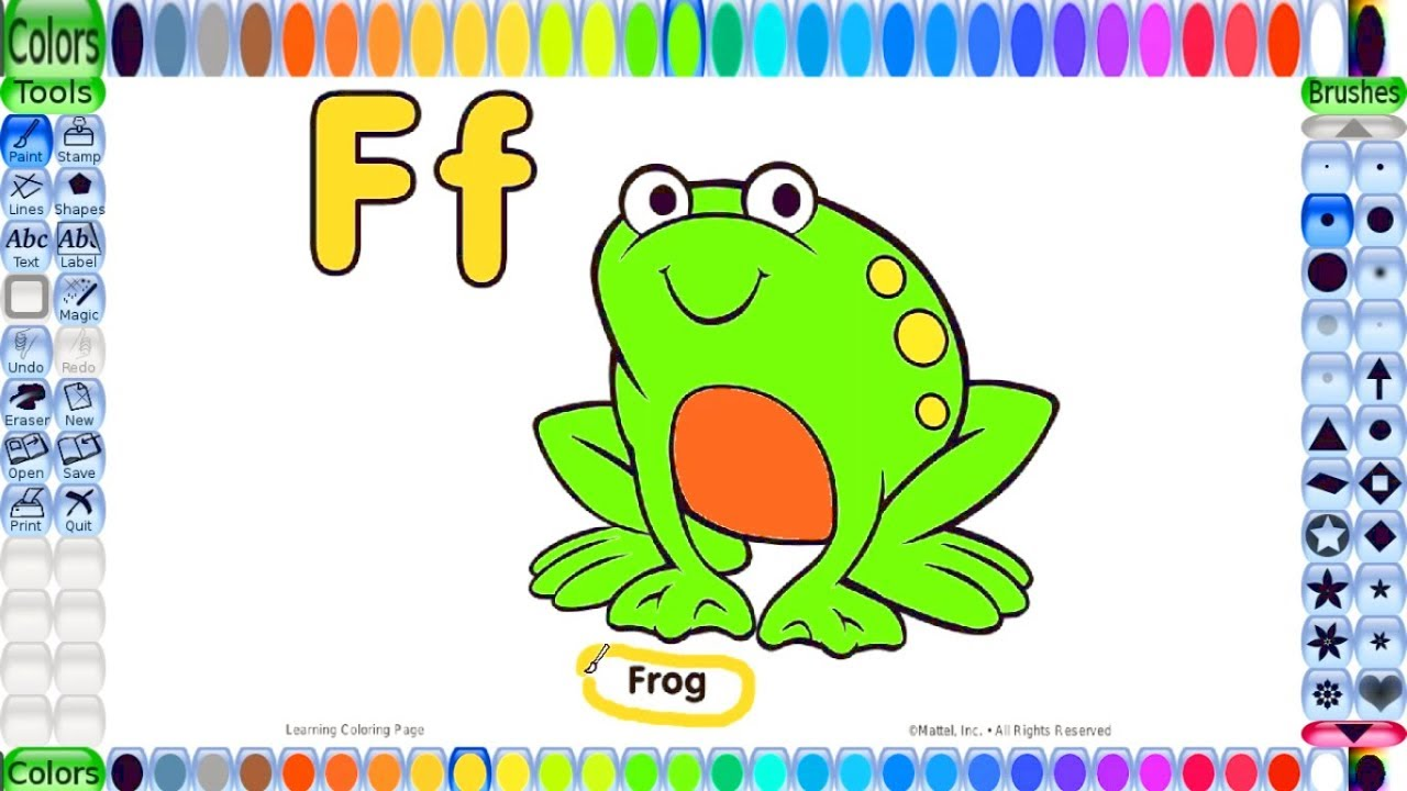 Coloring pages for kids | Alphabet Phonics Song | learn colors for ...