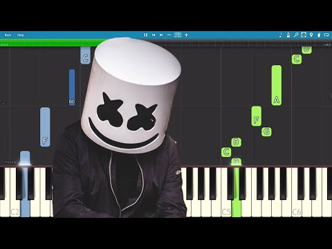 Marshmello - Find Me - EASY Piano Tutorial