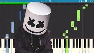 Скачать Marshmello Find Me EASY Piano Tutorial
