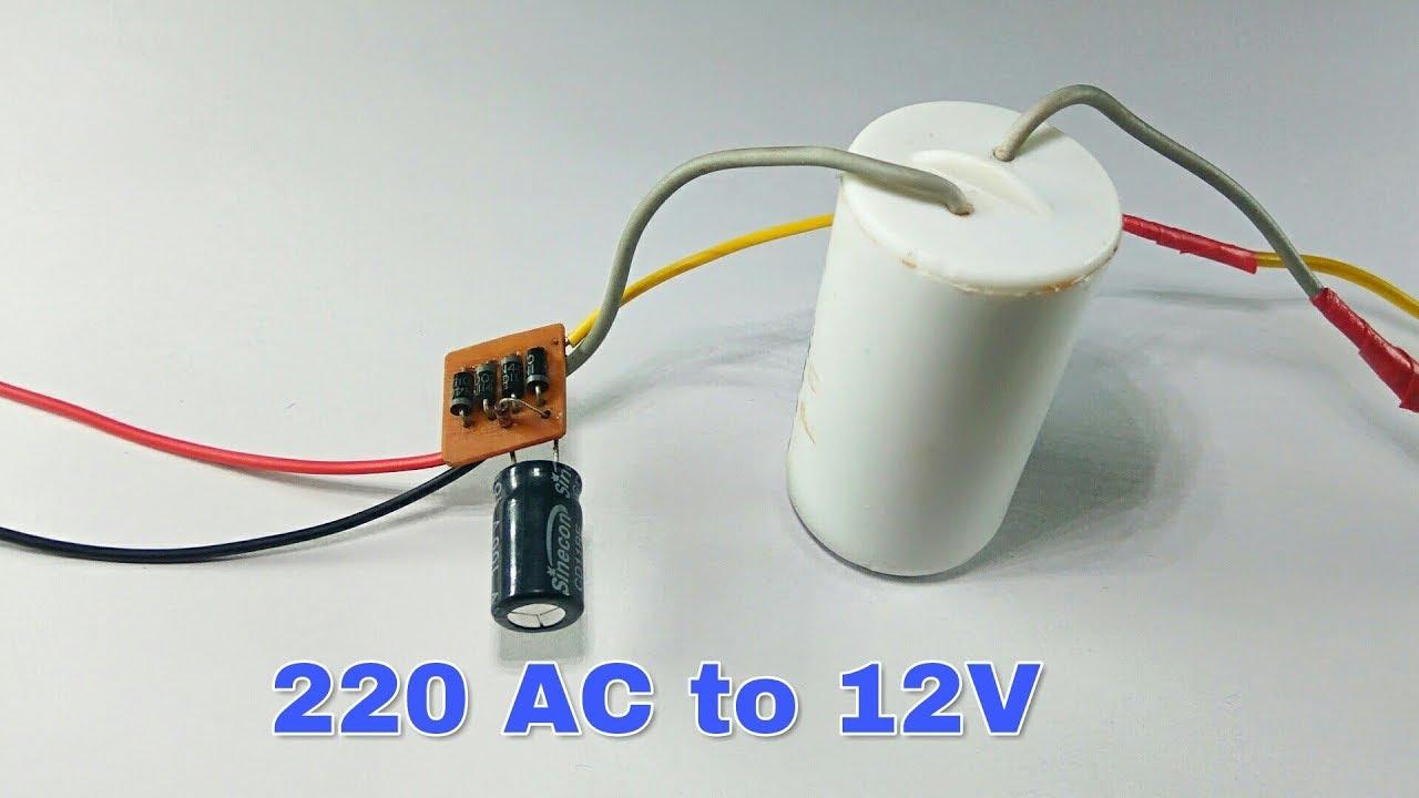 12v Fan Directly On 220v Ac