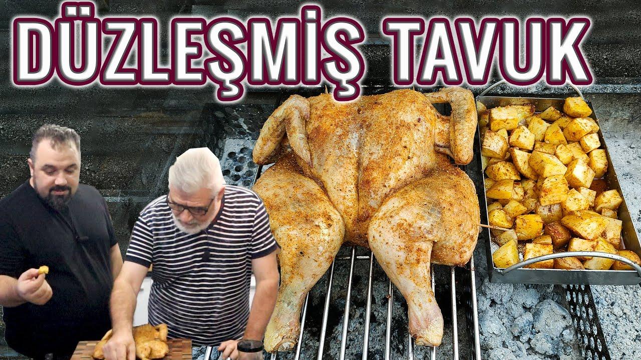 TÜM TAVUĞU EŞİT PİŞİRMENİN EN İYİ YOLU (Mangalda Düzleştirilmiş Tavuk) (Az Kömürle Tavuk Pişirmek)